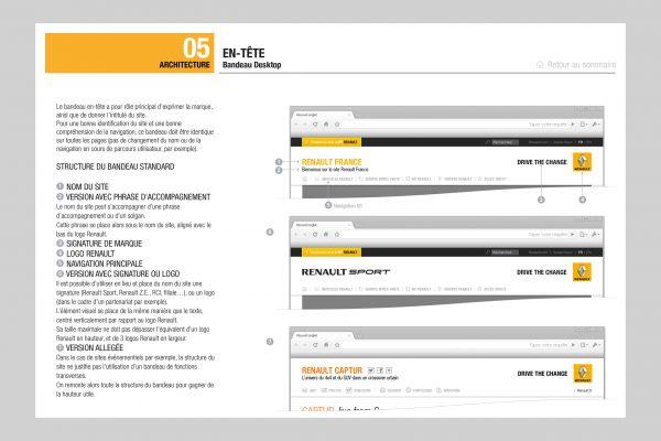 Charte graphique web Renault