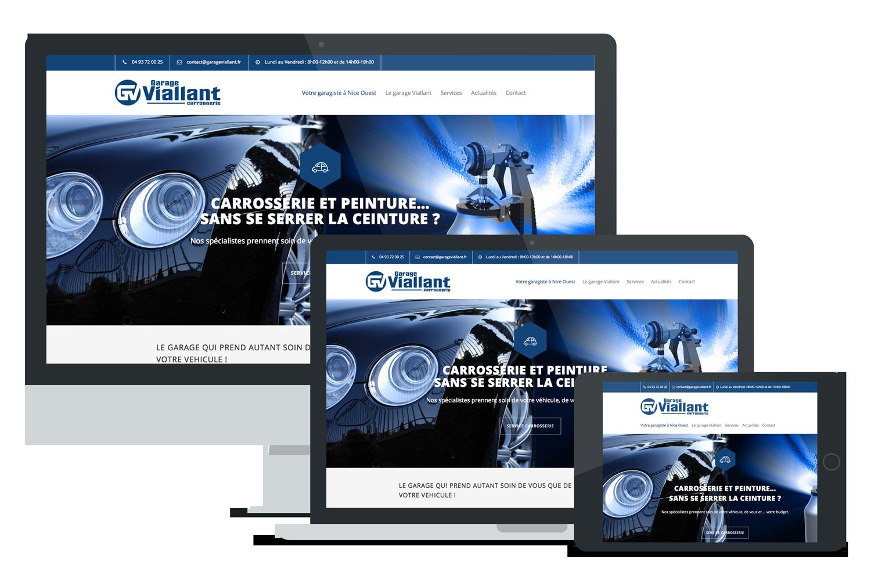 Garage Viallant webdesign