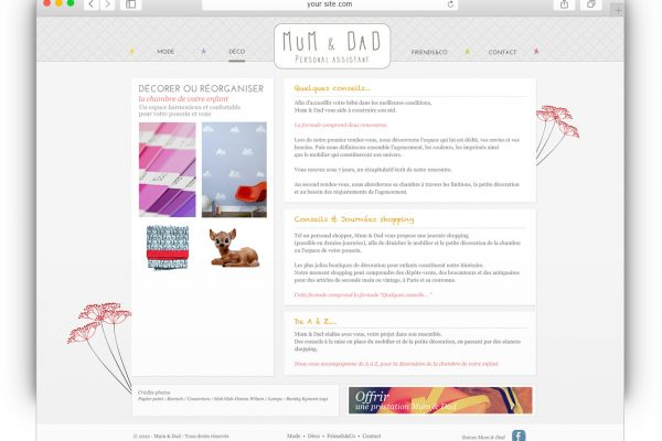 Mum and Dad site web