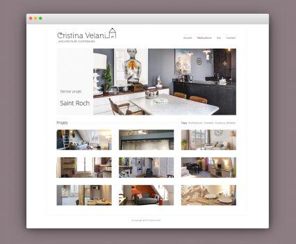 Site internet Cristina Velani