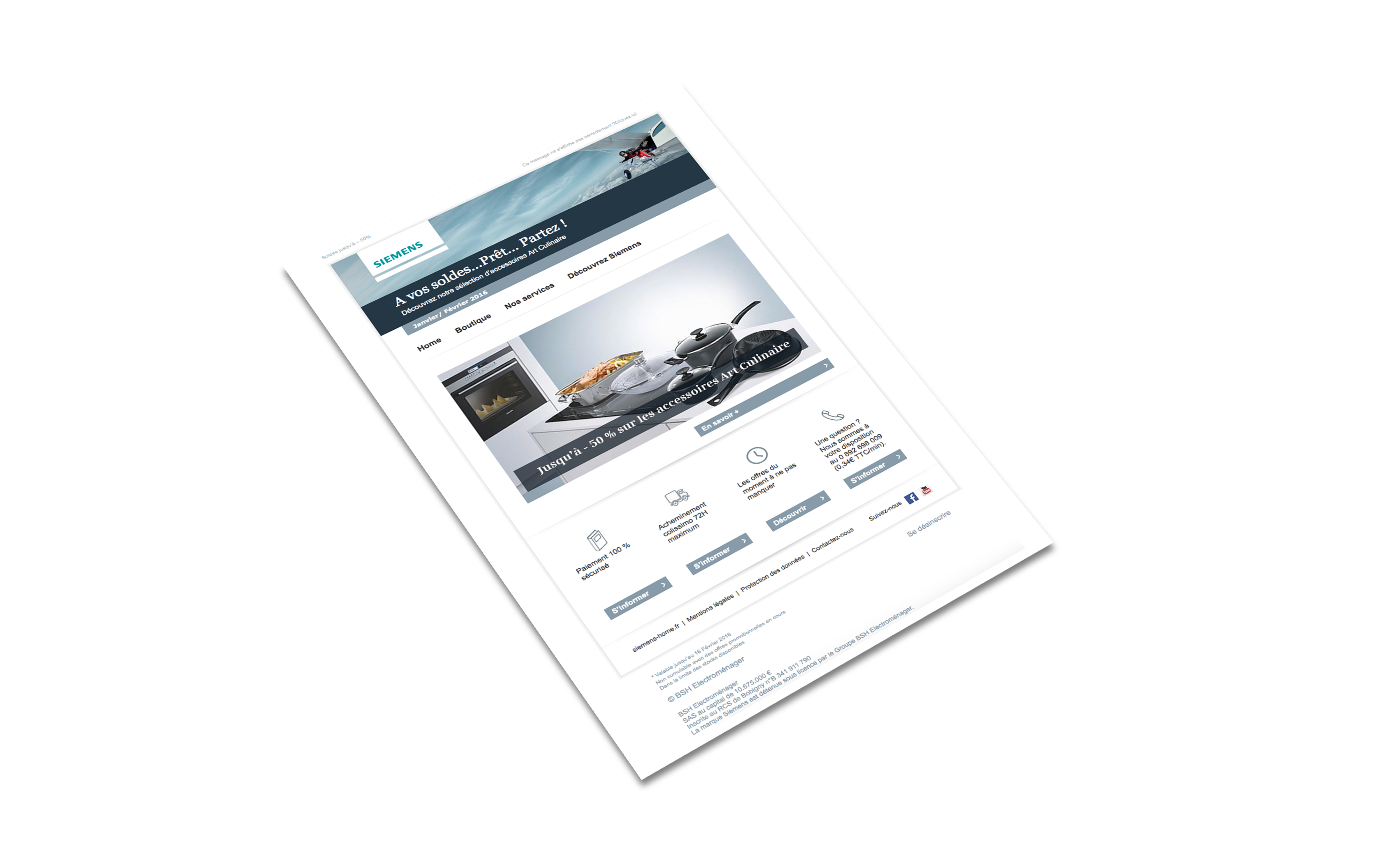 Emailing Siemens Soldes