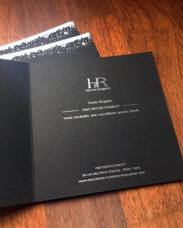 Carte de vœux H&R recrutement