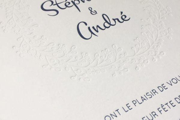 Faire part de mariage Stéphanie & André