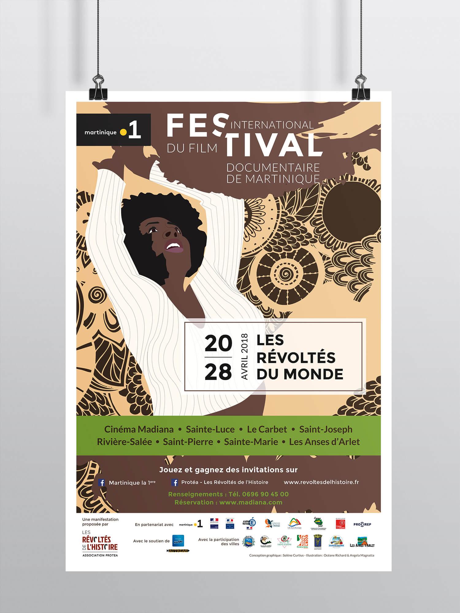Affiche Les Révoltés de l'histoire - Festival de la Martinique