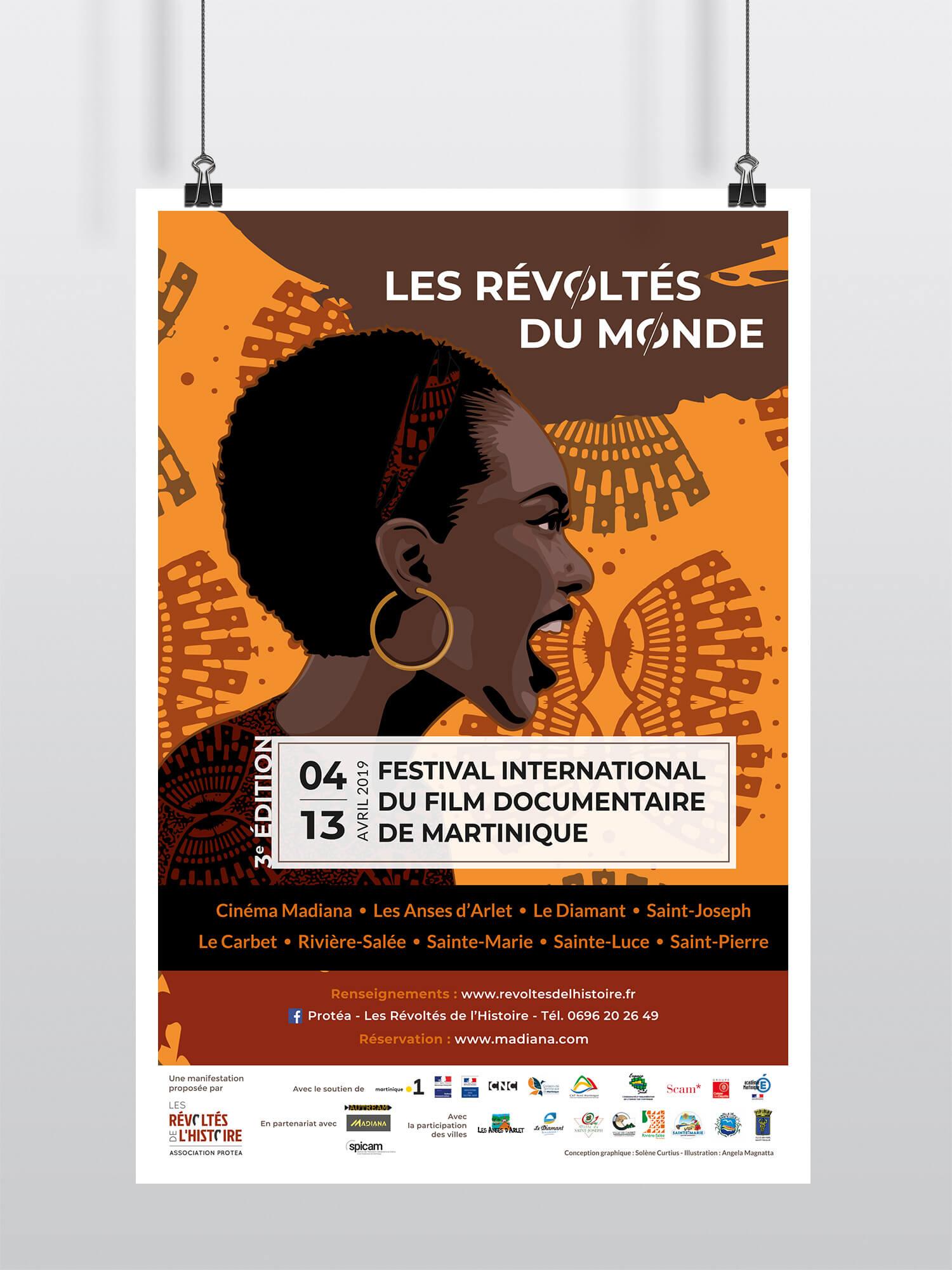 Affiche Les Révoltés de l'histoire - Festival de la Martinique 2019