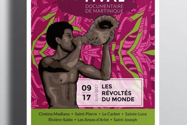 Affiche Festival de la Martinique - Les Révoltés de l'histoire
