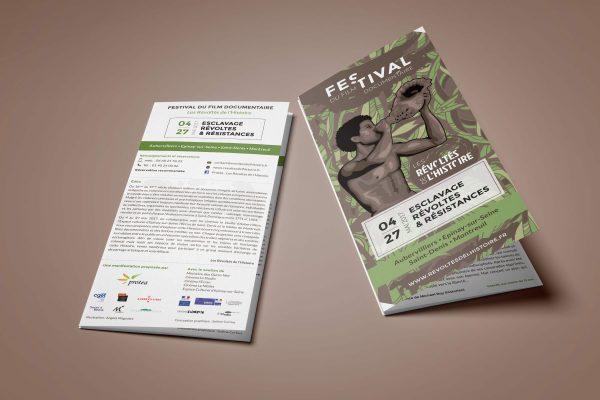 Dépliant Festival de la Martinique - Les Révoltés de l'histoire