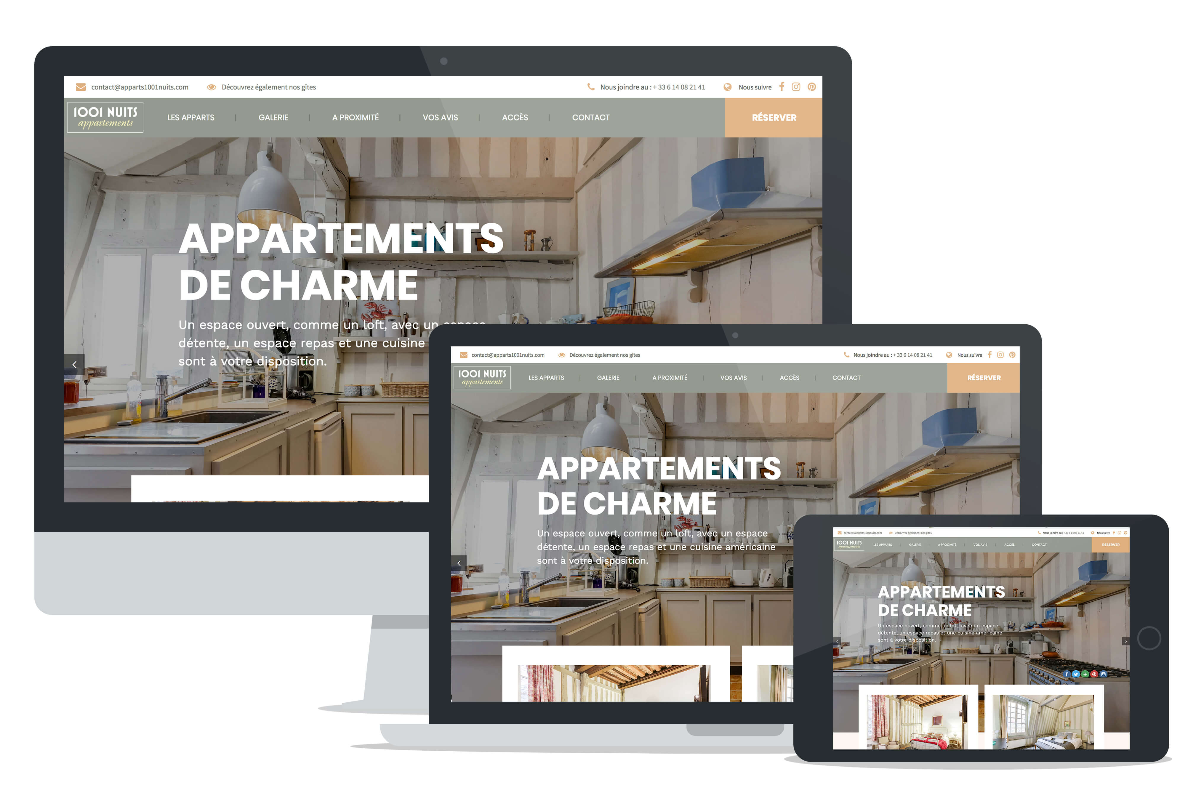 Site internet 1001-nuits appartements