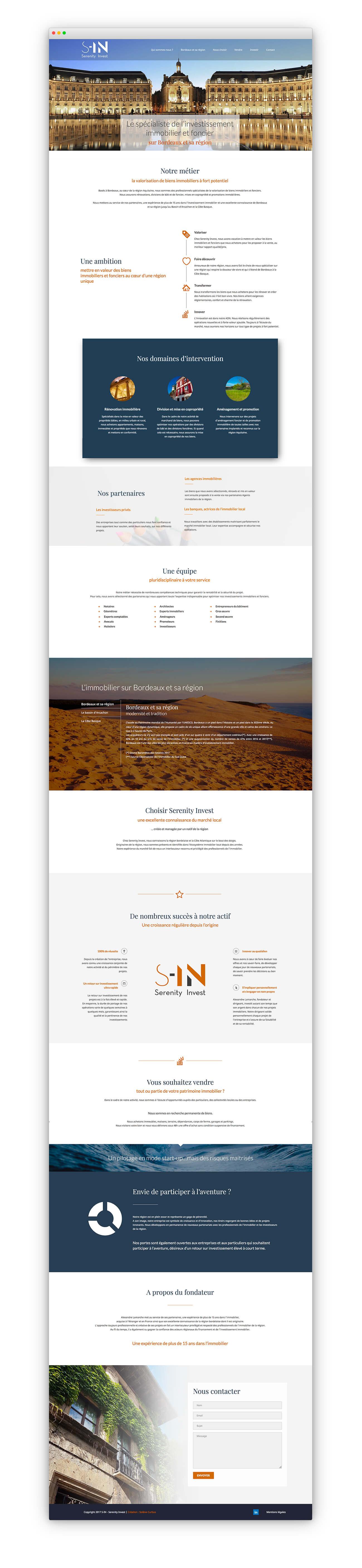 Site internet Serenity Investment