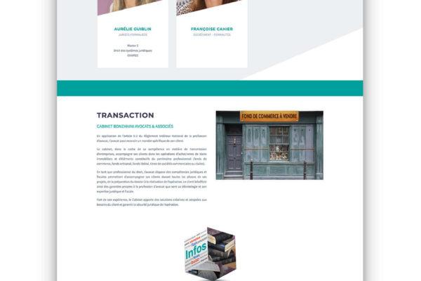 Site internet - Cabinet Bonzanini Avocats et Associés