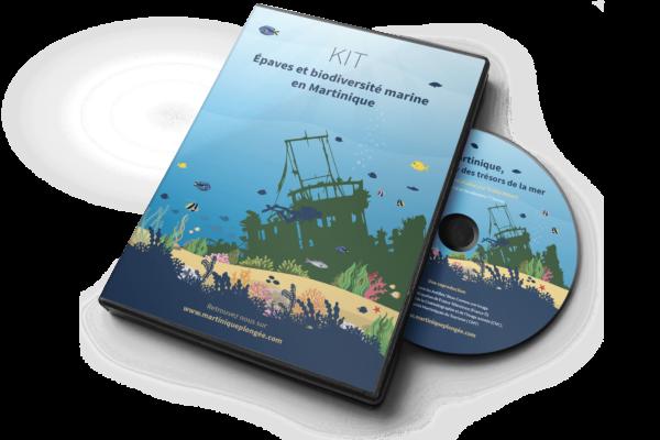 Jaquette DVD et rondelle de DVD - Plongée en Martinique