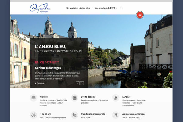 Maquette web - Anjou Bleu
