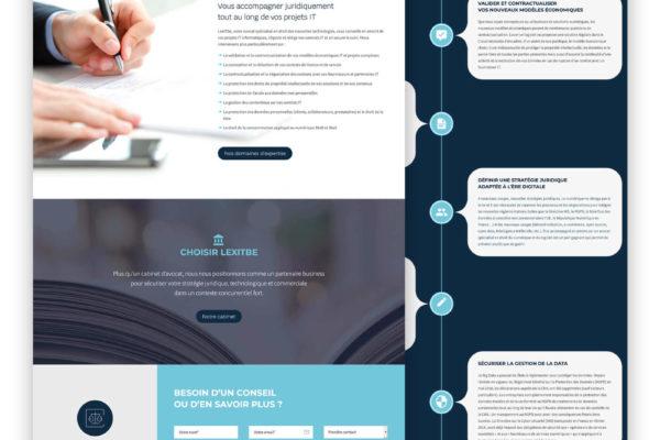 Lexitbe - Création graphique de site internet