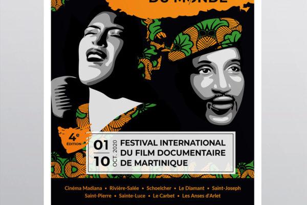 Création graphique d'une affiche - Les révoltés de lhistoire - Festival du film documentaire de Martinique - 2020